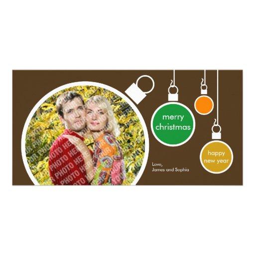 Moderne WeihnachtsFoto-Karte schokoladenbraun Individuelle Foto Karten