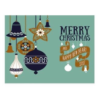 Moderne Weihnachtsgruß-Karte Postkarte