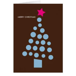 Moderne Weihnachtskarte - Weihnachtsbaum Karte