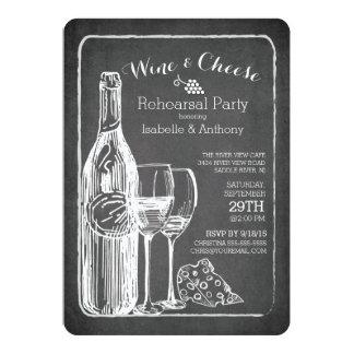 Moderne Wein-u. Käse-Proben-Party Einladung
