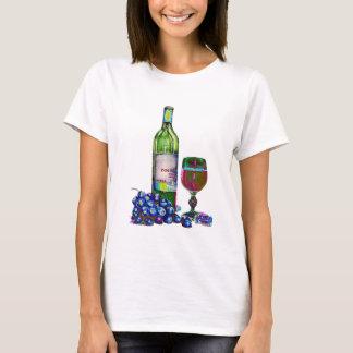 Moderne Wein- und Traubenkunst T-Shirt