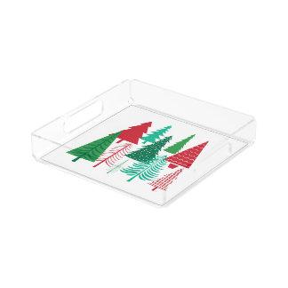 moderne zeitgenössische Weihnachtsbäume Acryl Tablett