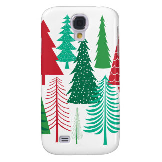 moderne zeitgenössische Weihnachtsbäume Galaxy S4 Hülle