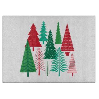moderne zeitgenössische Weihnachtsbäume Schneidebrett
