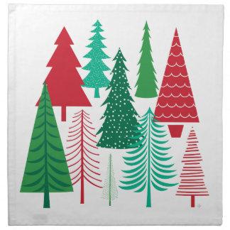 moderne zeitgenössische Weihnachtsbäume Stoffserviette