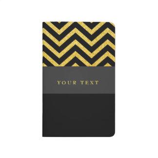 Moderne Zickzack schwarze Taschennotizbuch