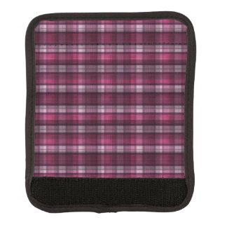 Modernen rosa karierten Mädchens Gepäck Markierung