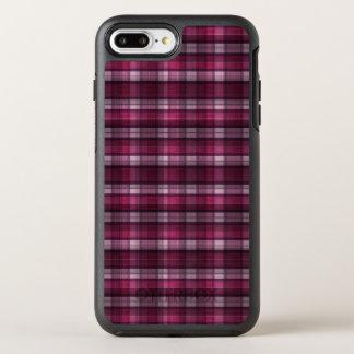 Modernen rosa karierten Mädchens OtterBox Symmetry iPhone 8 Plus/7 Plus Hülle
