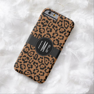 Moderner 3 Initialen-Leopard-Druck iPhone 6 Fall Barely There iPhone 6 Hülle