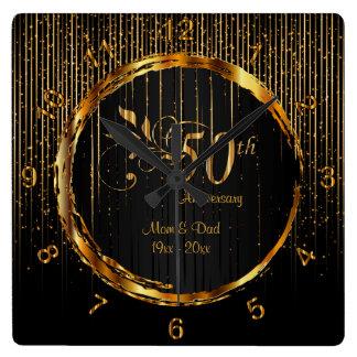 Moderner 50. goldener Galaxie-Jahrestags-Entwurf Uhr