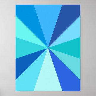 Moderner 60er der Pop-Kunst Funky geometrische Poster