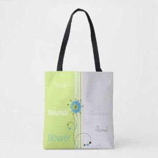 Moderner abstrakter Blumen-Entwurf - Tasche
