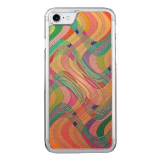 Moderner abstrakter bunter Entwurfs-beflecktes Carved iPhone 8/7 Hülle