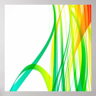 Moderner abstrakter bunter Wirbel Poster