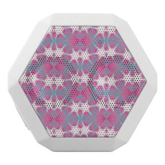 Moderner abstrakter geometrischer rosa aquamariner weiße bluetooth lautsprecher