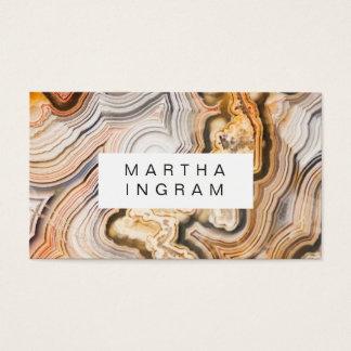 Moderner Achat-abstrakter Makroentwurf Visitenkarte
