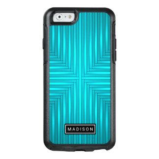 Moderner aquamariner blaues Schwarzes OtterBox OtterBox iPhone 6/6s Hülle