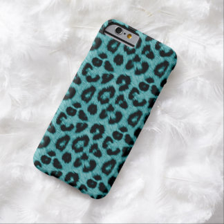Moderner aquamariner Leopard-Druck iPhone 6 Fall Barely There iPhone 6 Hülle