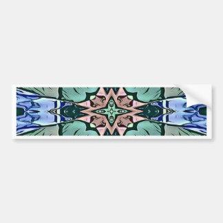 Moderner aquamariner lila Pfirsich-künstlerisches Autoaufkleber