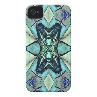Moderner aquamariner lila Pfirsich-künstlerisches Case-Mate iPhone 4 Hülle