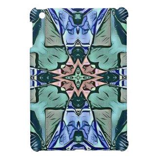 Moderner aquamariner lila Pfirsich-künstlerisches iPad Mini Hülle