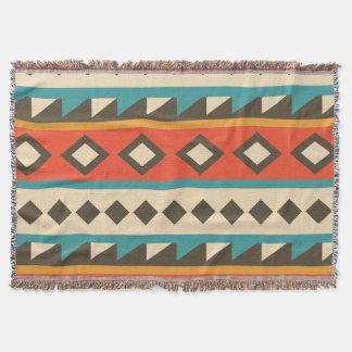 Moderner Azteke. Ethnisch. Stammes-. Geometrisch Decke