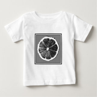 Moderner B&W Grauschnitt Trauben-Frucht-Entwurf Baby T-shirt