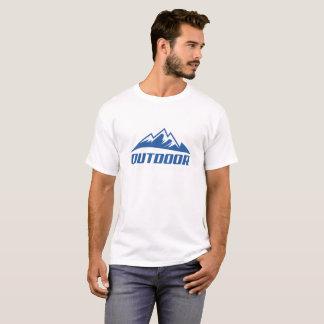 Moderner blauer Gebirgst-shirt im Freien T-Shirt