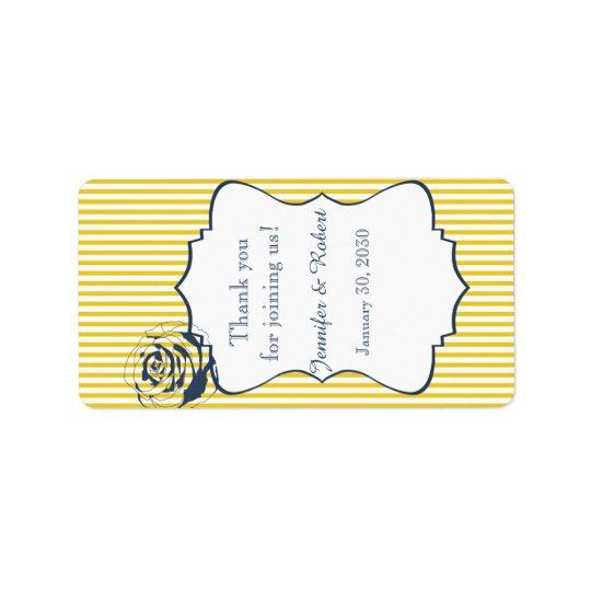 Moderner blauer gelber adressaufkleber