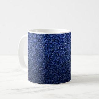 Moderner blauer Glitzer Kaffeetasse