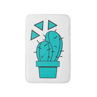 Moderner blauer Kaktus-Entwurf Badematte
