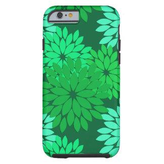 Moderner BlumenKimono-Druck, Smaragd und Jade-Grün Tough iPhone 6 Hülle