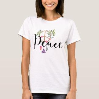 Moderner Boho Art-Friedensentwurf T-Shirt