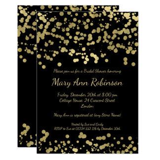 Moderner Brautparty-Goldfolien-BlickConfetti 12,7 X 17,8 Cm Einladungskarte