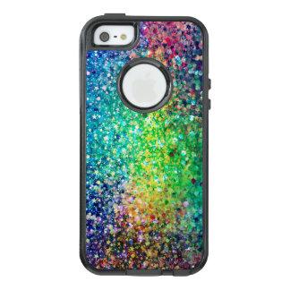 Moderner bunter Glitter-Beschaffenheits-Druck OtterBox iPhone 5/5s/SE Hülle