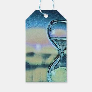 Moderner bunter Hourglass-Zeitablauf Geschenkanhänger