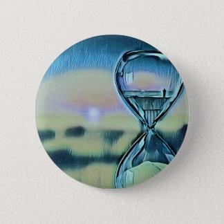 Moderner bunter Hourglass-Zeitablauf Runder Button 5,1 Cm