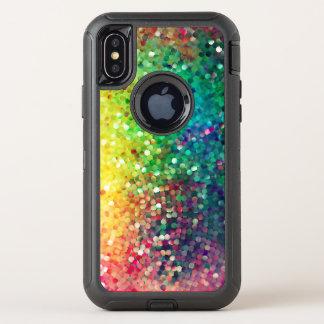 Moderner bunter Imitat-Glitzer-Hintergrund OtterBox Defender iPhone X Hülle