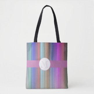 Moderner bunter Streifen Tasche