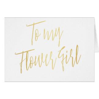 Moderner Chic zu meinem Blumen-Mädchen Grußkarte