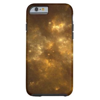 Moderner cooler schöner Goldnebelfleck, -sterne u. Tough iPhone 6 Hülle