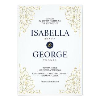 Moderner Druck die Liebe-Hochzeits-Karte 12,7 X 17,8 Cm Einladungskarte