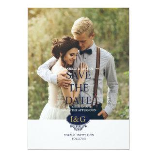 Moderner Druck die Liebe-Save the Date 12,7 X 17,8 Cm Einladungskarte