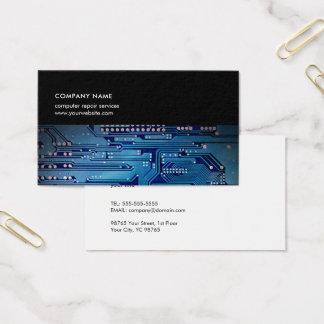 Moderner dunkelblauer Leiterplatte-EDV-Berater Visitenkarte