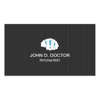Moderner dunkelgrauer beruflicher Psychiater Visitenkartenvorlagen