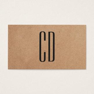 Moderner eleganter Monogramm-Packpapier-Berater Visitenkarten