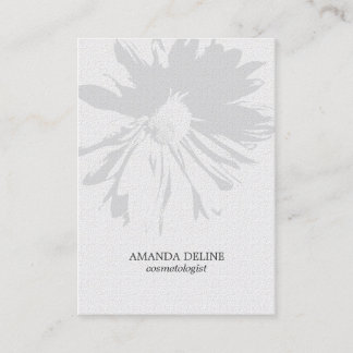 Modern Elegant Floral Texture White Cosmetologist