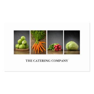 Moderner eleganter weißer Nahrungs-Trainer-Koch Visitenkarten