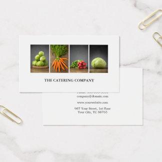 Moderner eleganter weißer Nahrungs-Trainer-Koch Visitenkarte