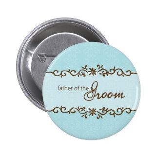 Moderner Eleganz-Vater des Bräutigam-Knopfes Runder Button 5,7 Cm